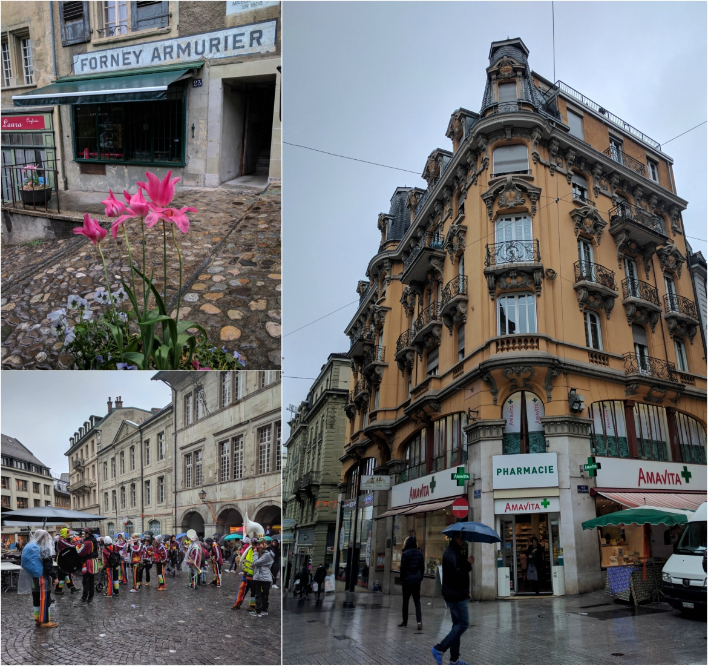 Lausanne's carnival under the rain