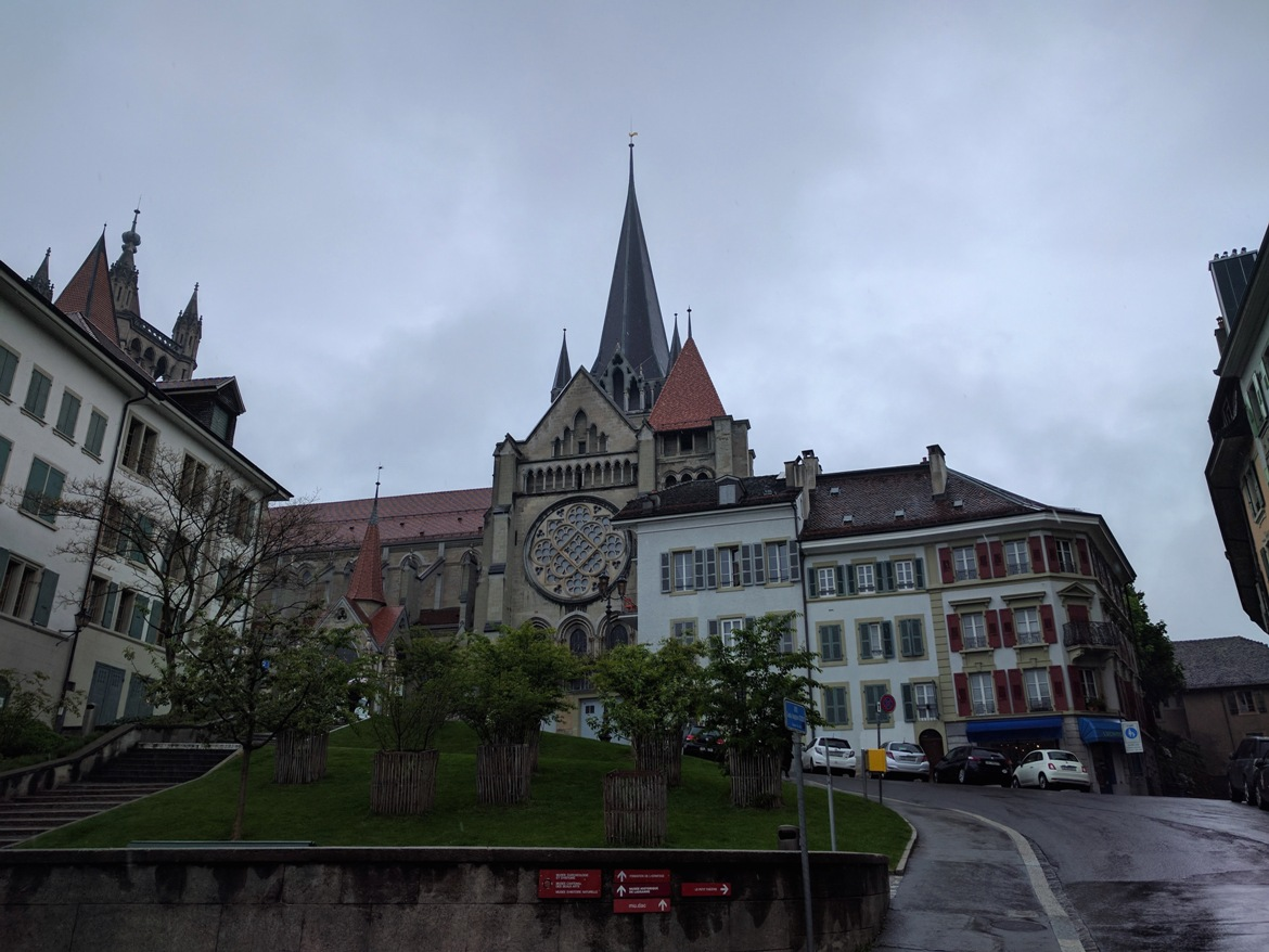 Lausanne's cathedral on the outside
