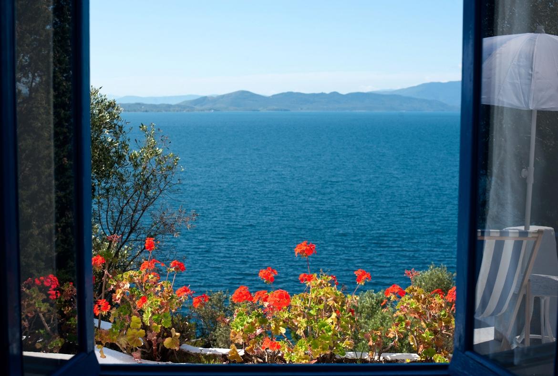 Θέα από το κατάλυμα στο Αιγαίο