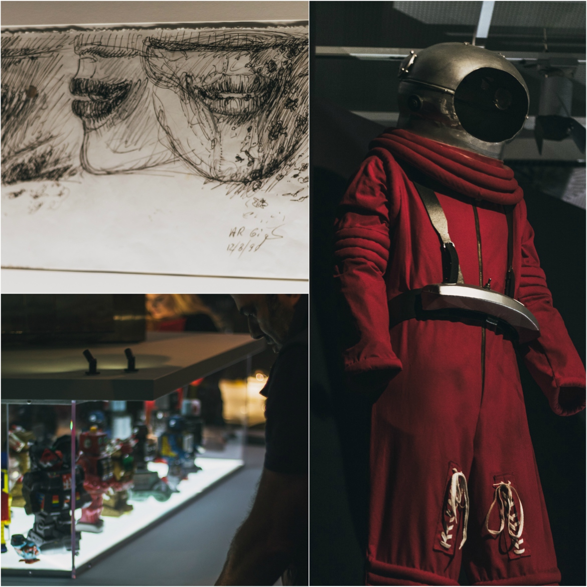From sketches to robots and astronauts, the exhibition includes a wide range of exhibits
