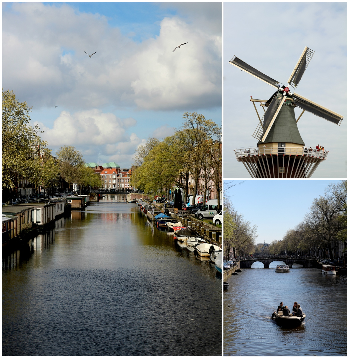 Admiring the sights and canals of Amsterdam