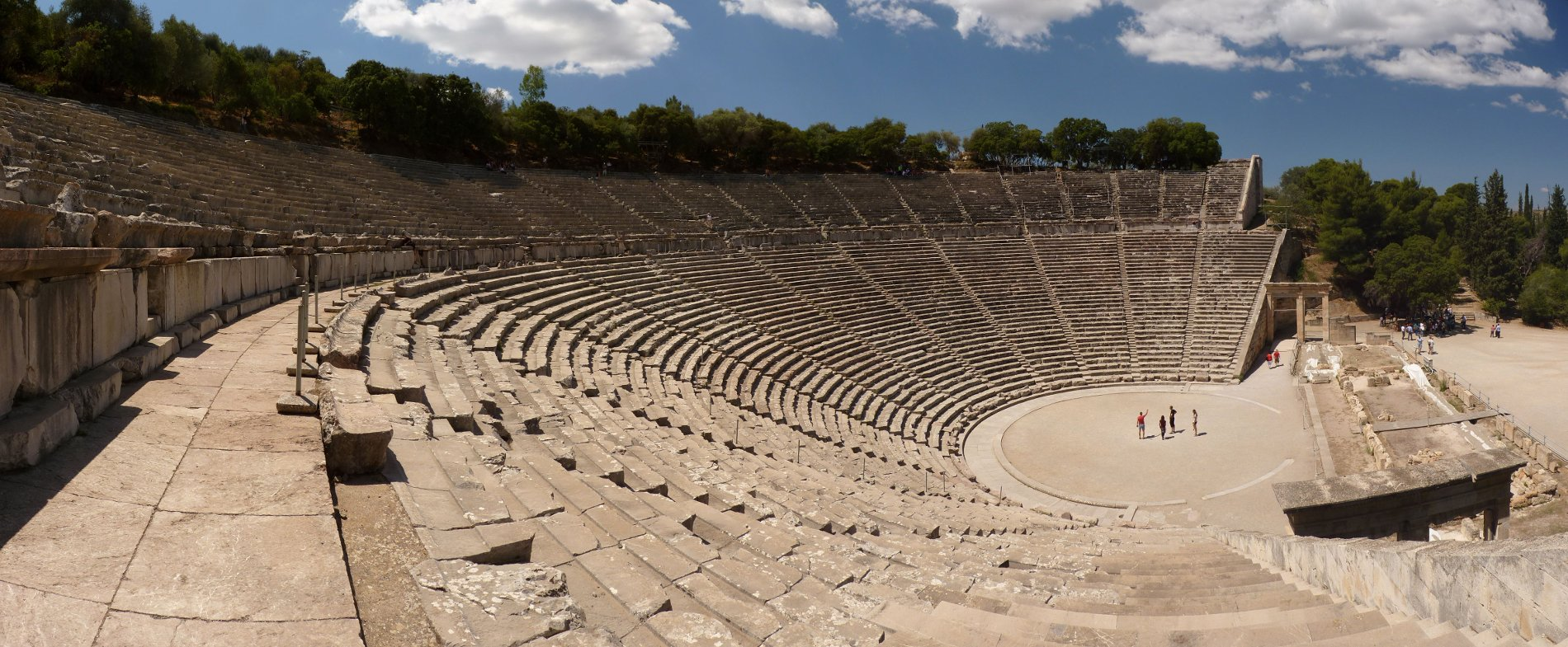 The ancient theater of Epidaurus. Source:  Wikimedia