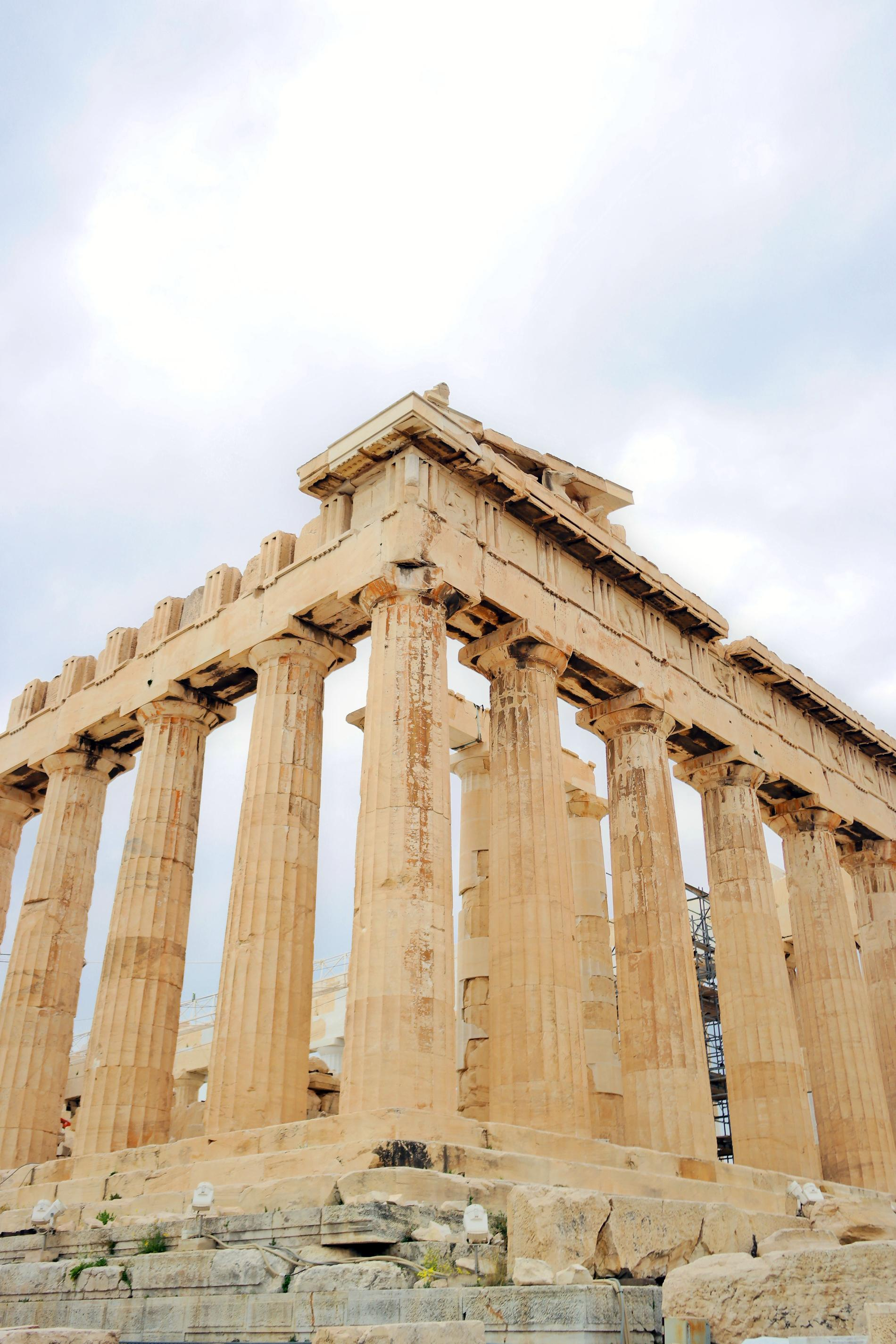 Parthenon, the magnificent Doric temple dedicated to the goddess Athena. Source: Truevoyagers