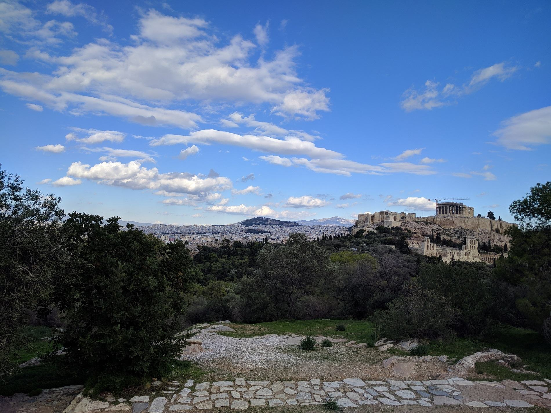 Amazing Acropolis view from Philopappou Hill. Source: Truevoyagers