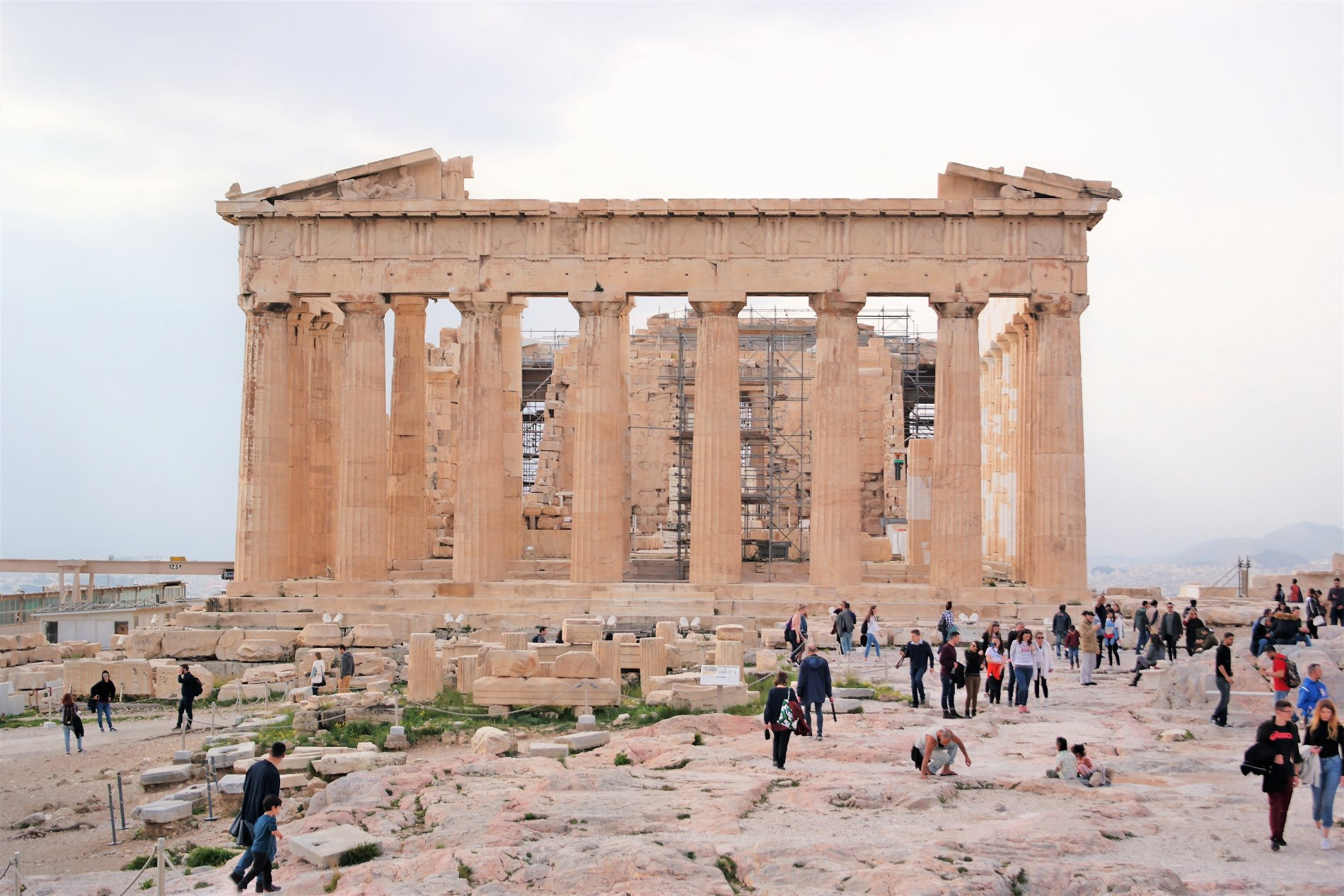 The Parthenon, one of the Greek miracles, and the top spot in Athens for history lovers. Source: Truevoyagers