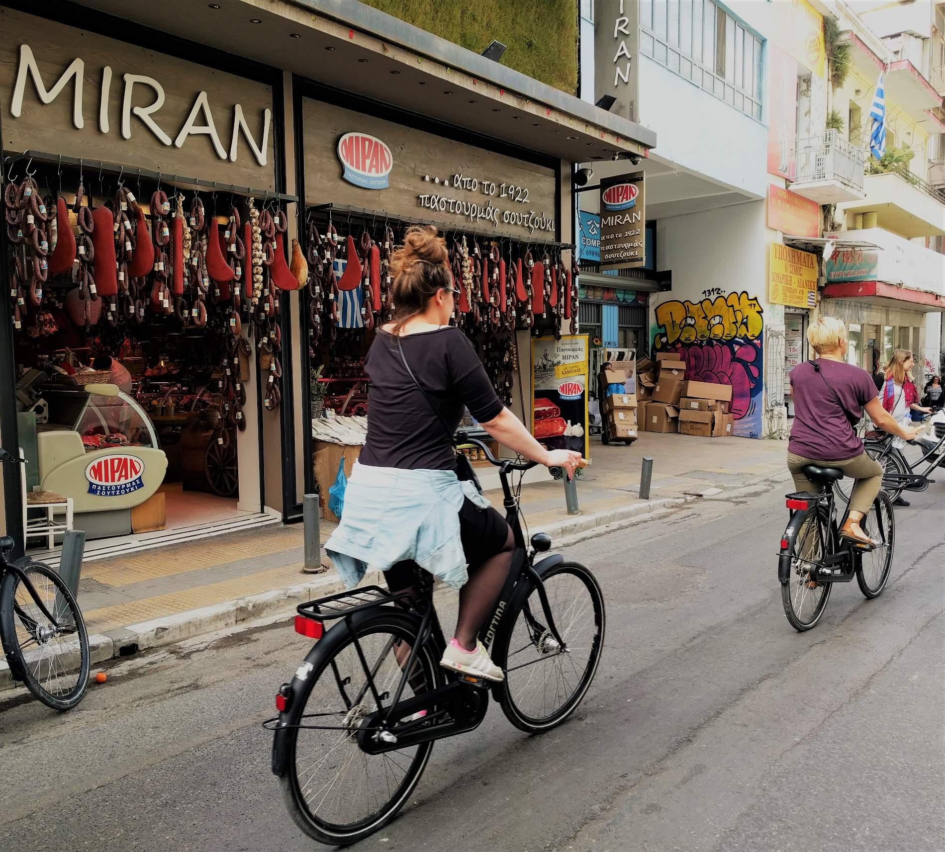 Cycling in downtown Athens isn't easy but is really useful in exploring many of the city's rustic neighborhoods, like Psyrri which is full of hidden gems. Source: Truevoyagers