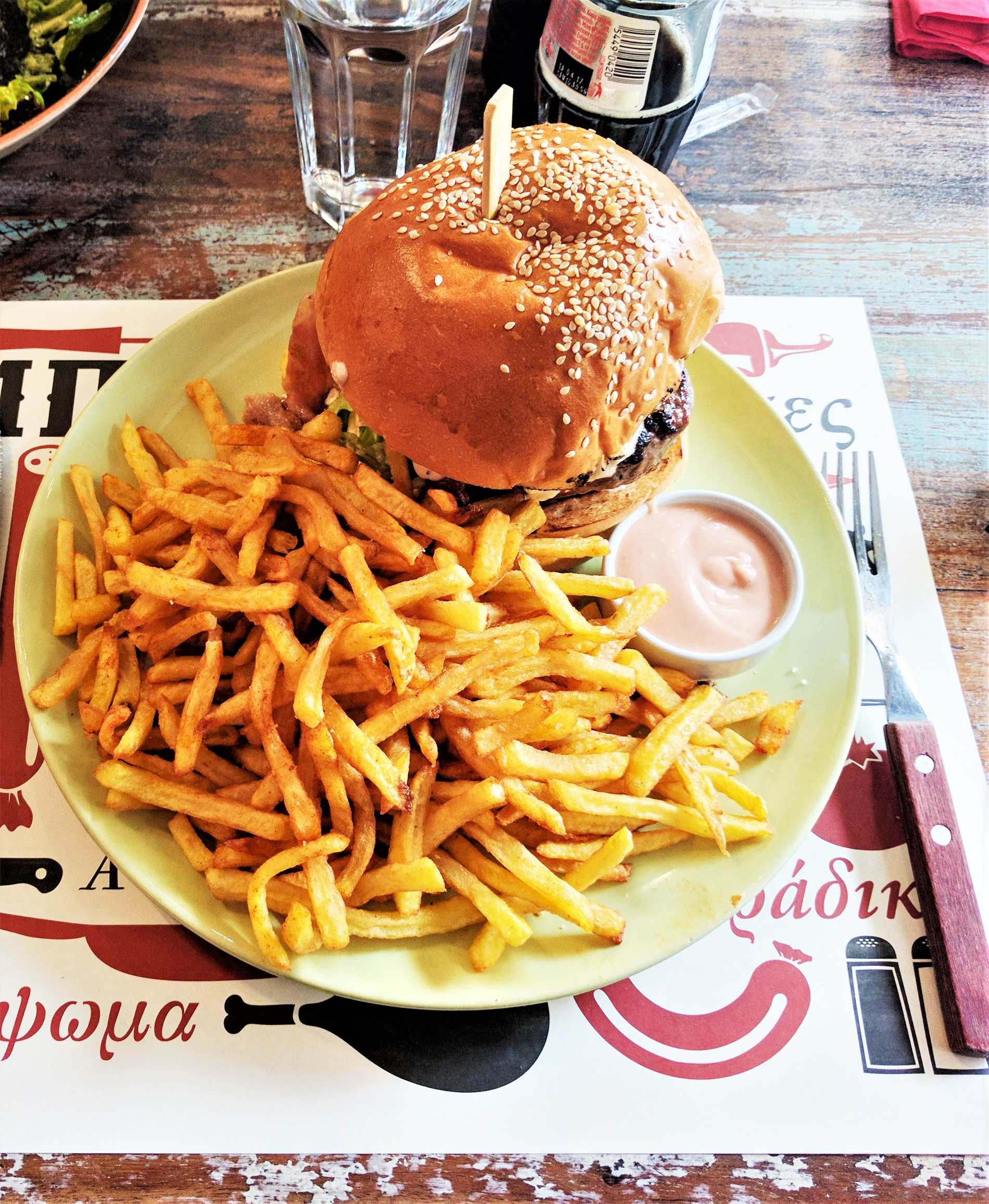 Mpar Mpee Kiou  in Piraeus has been listed in the top 10 burger places in the whole world. Source: Truevoyagers