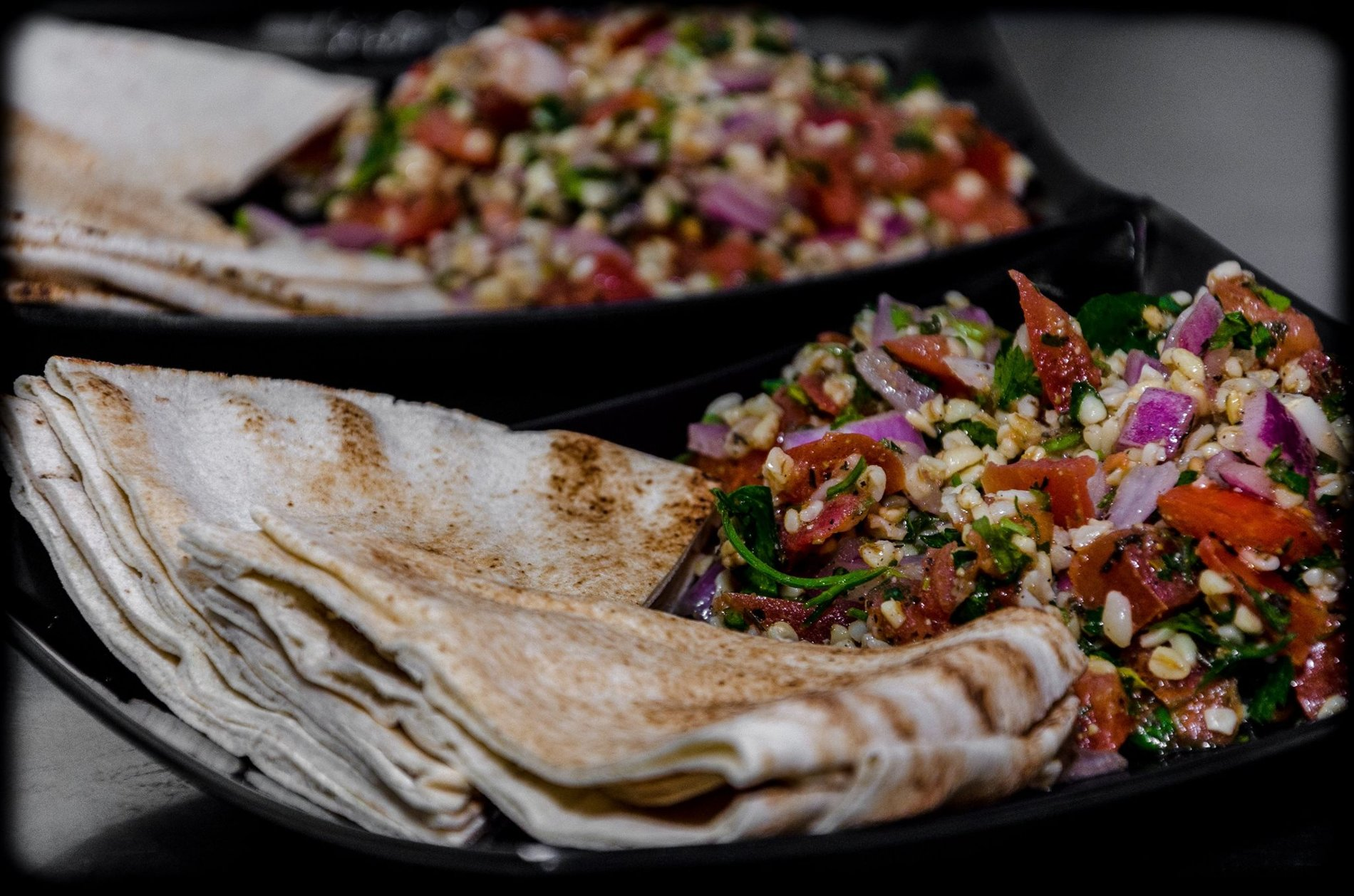 Taboule is one of the specialties in  Avli tou Petrou  restaurant, located in Metaxourgeio, Athens. Source: Avli tou Petrou