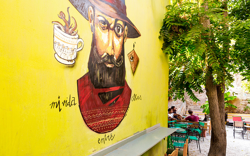 Cabezon  is a great spot for both eating and drinking, offering a nice colorful courtyard in the center of Athens. Source: Dionysis Kouris