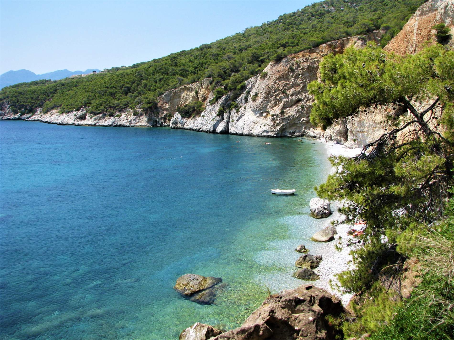 Chalikiada nudist beach in Agistri island. Source: Greece.com