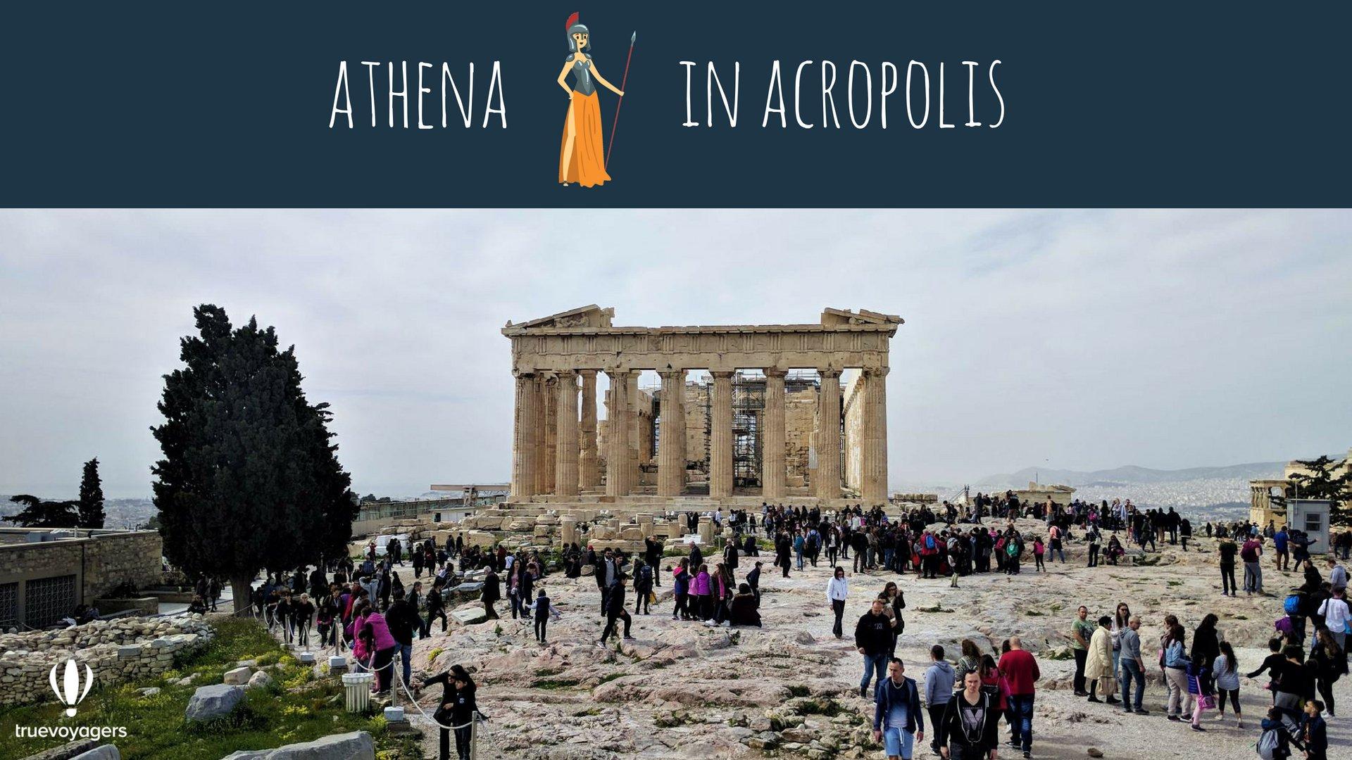 Athena in Acropolis. Copyright: Truevoyagers