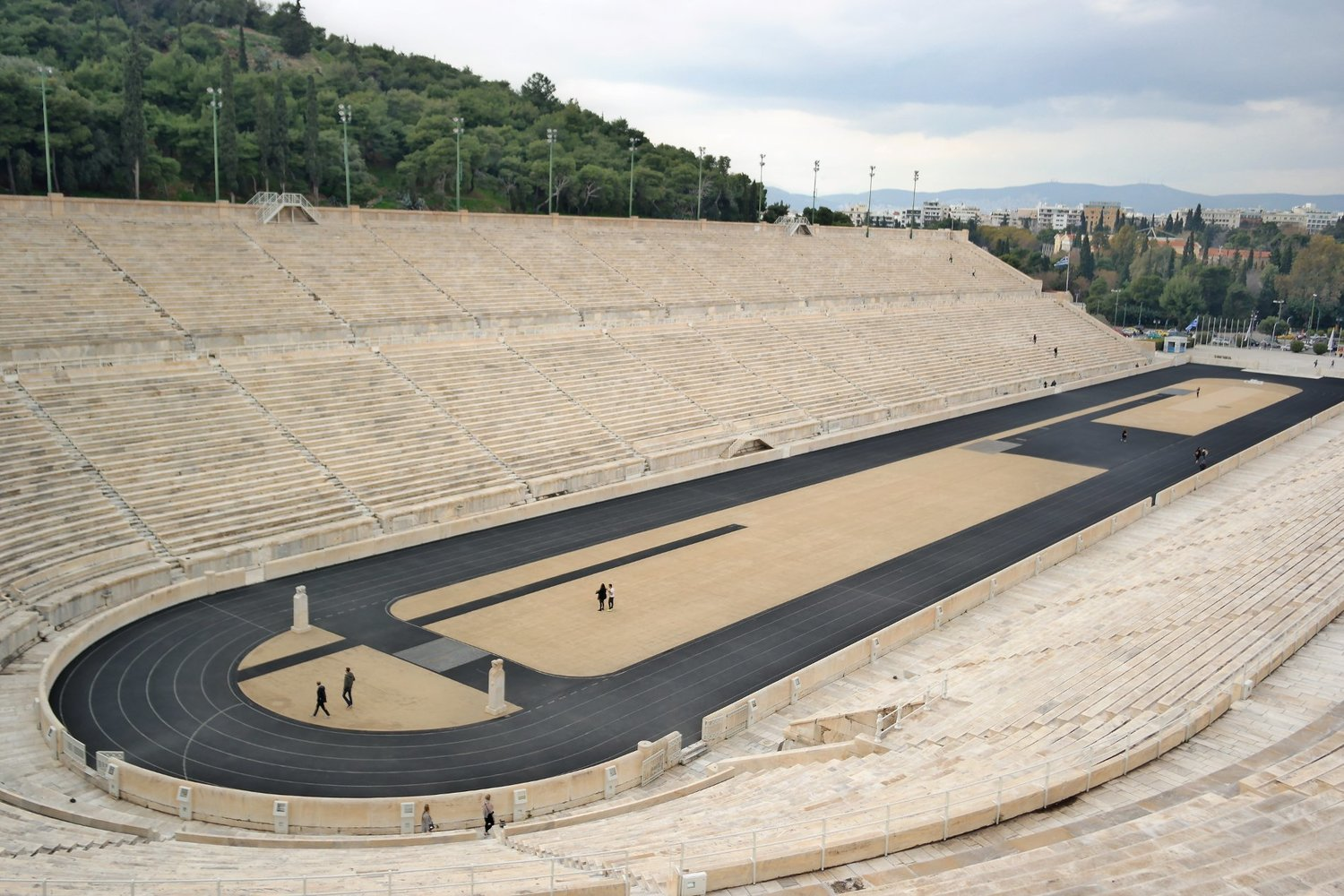 Panathenaic Stadium in Athens, the only stadium in the world entirely made from marble. Source: Truevoyagers