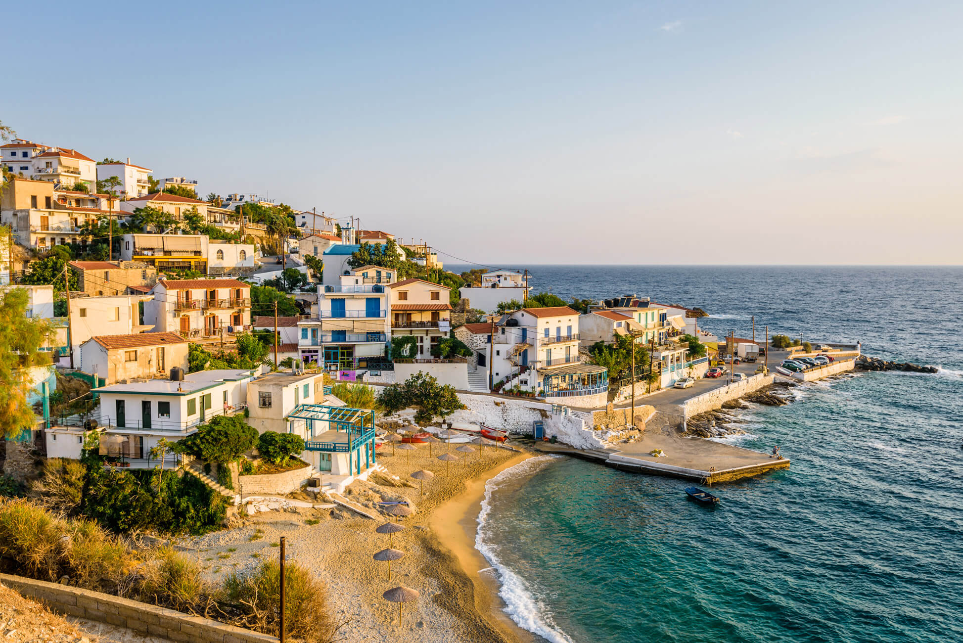 Ikaria, located in Northeastern Aegean, is not only famous for its natural beauty, for also for its layback atmosphere and its high quality of life. Source: Shutterstock