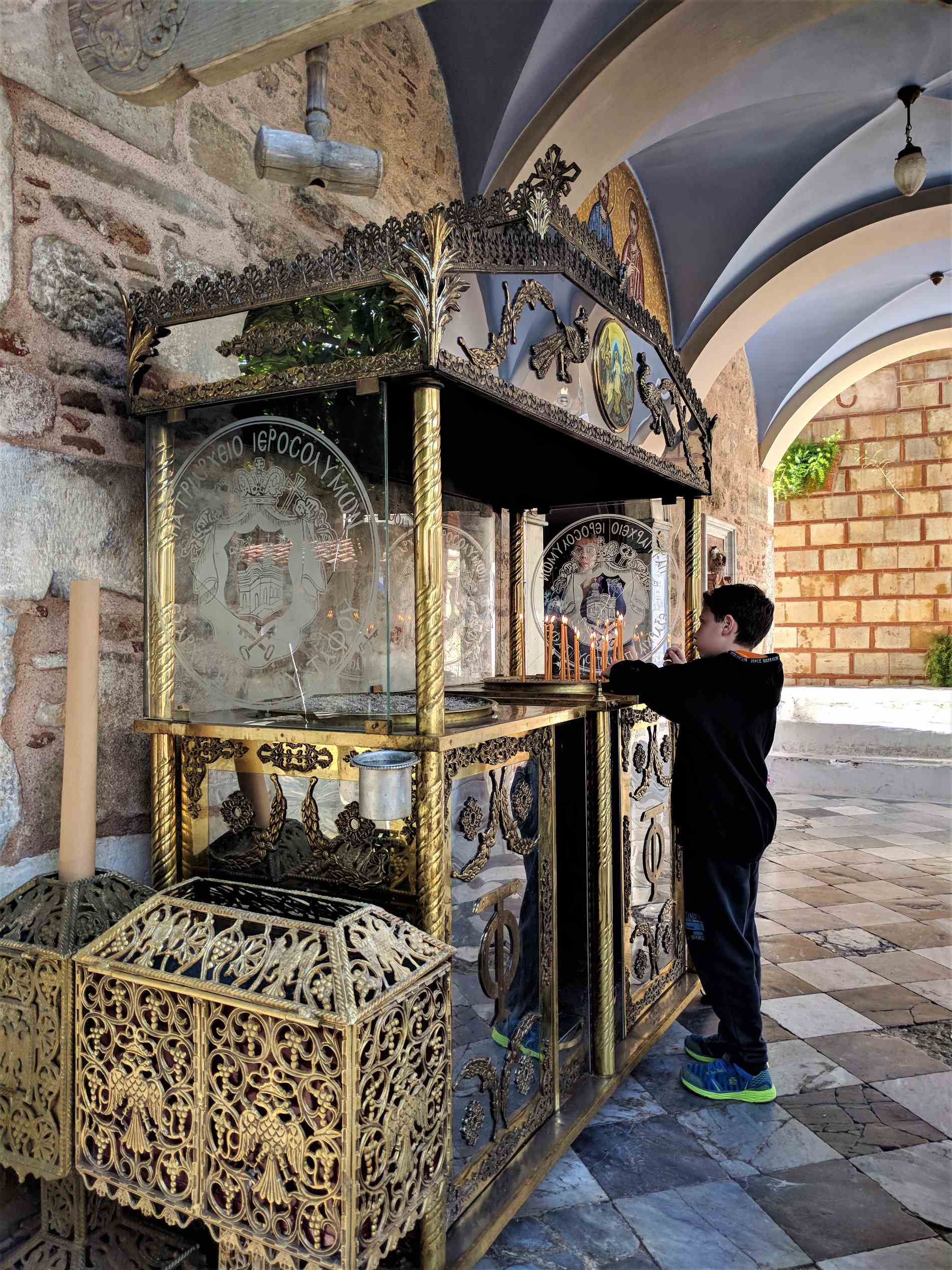 According to the Greek Orthodox church, honoring your name day requires your visit to the church where the saint who carries your name is being celebrated. Source: Truevoyagers