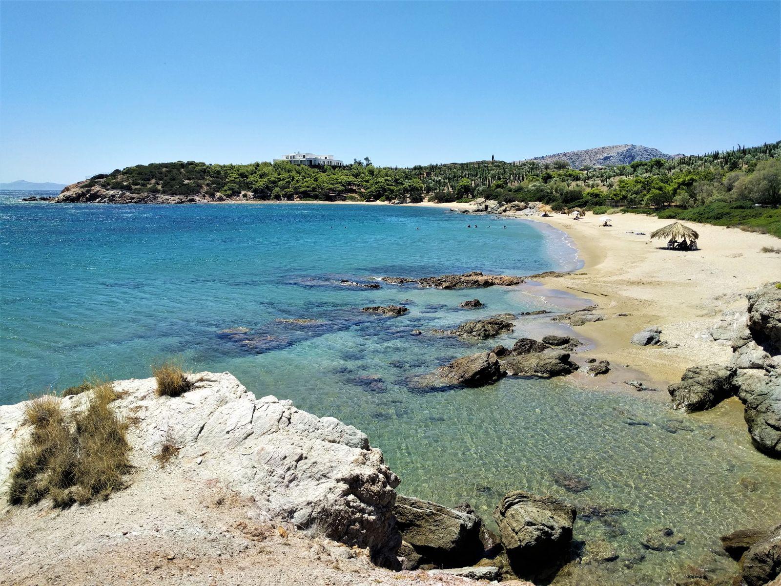 The most well-known… hidden beach of Attica, Legrena. Source: Truevoyagers