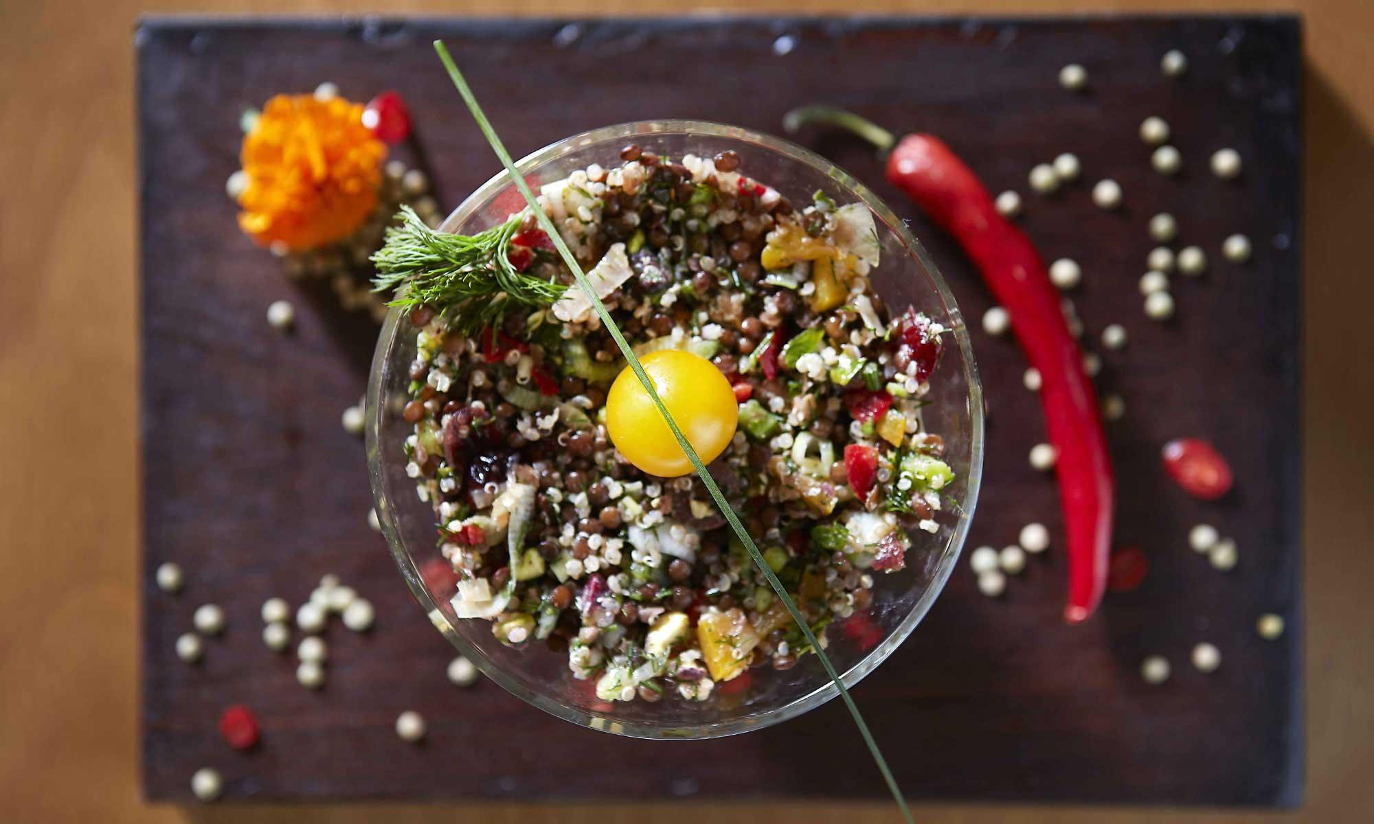 Original gastronomical delicacies inspired by Greek cuisine are served at Kiouzin, Athens. Source: Kiouzin