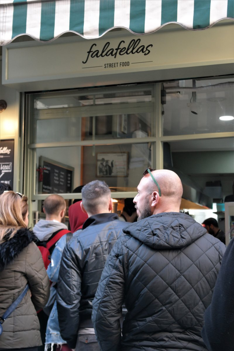 Beware of the line in Falafellas, because it can get quite long! Source: Truevoyagers