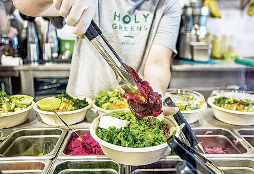 Simple, fresh, high-quality vegetarian food served at Holy Greens in Marousi. Source: Holy Greens