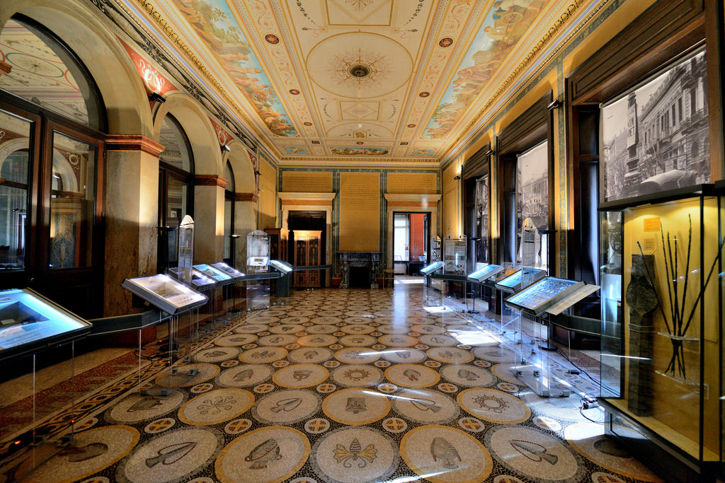 The amazing interior of the Numismatic Museum in Athens, housed inside the Iliou Melathron mansion, constructed by the famous architect Ernst Ziller. Source: Alona Azaria