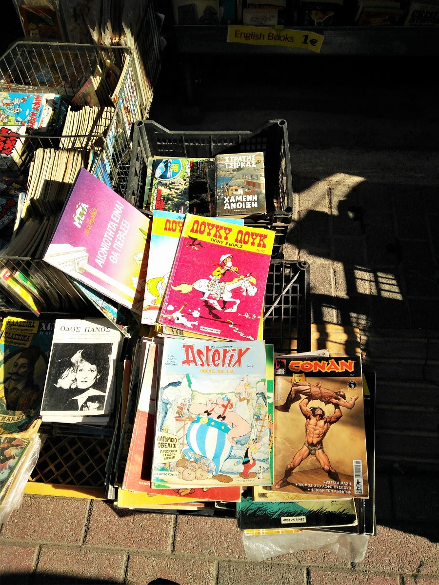 Find old reprints of your favorite comics (in Greek or English) at the Monastiraki street market.