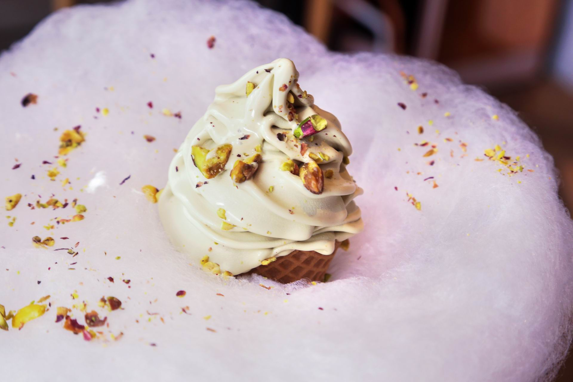 Soft serve ice cream featuring a unique candy cloud in Dickie Dee; as instagrammable as it gets.