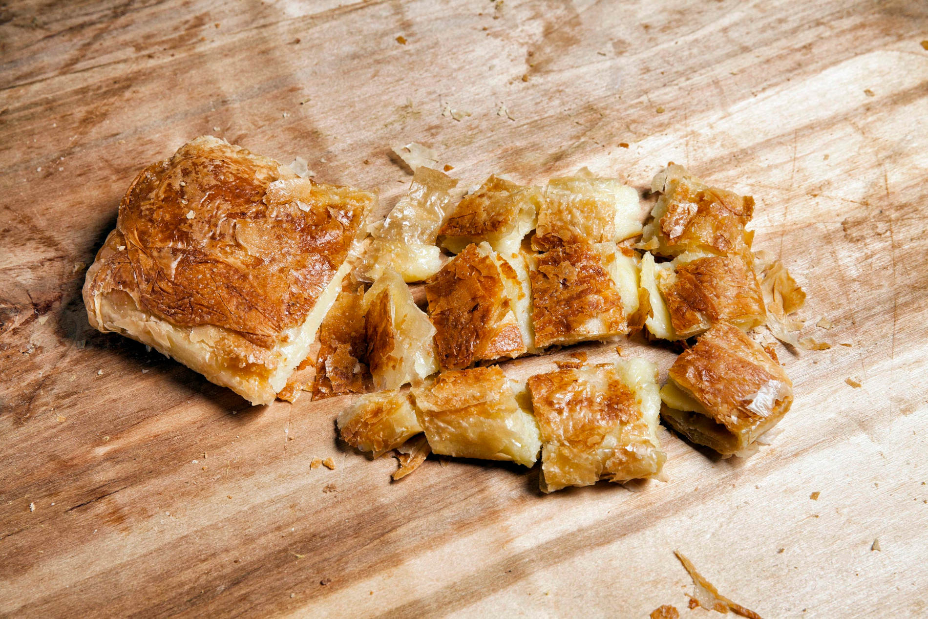 The traditional Greek  bougatsa  is a must for your breakfasts or late-night cravings while in Athens. Photo source: alexiou-pites.gr