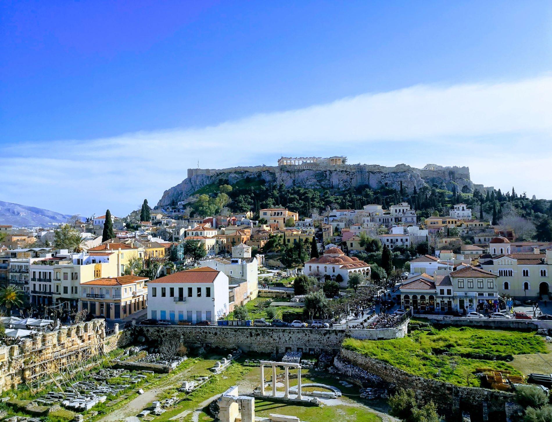 The view from  Anglais   bar-restaurant  terrace in Monastiraki.