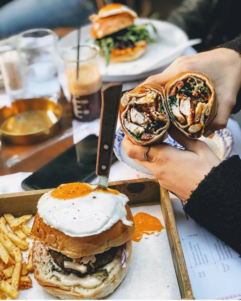 Eggs, wraps and burgers, found on  Odori 's brunch menu. Source:  Odori