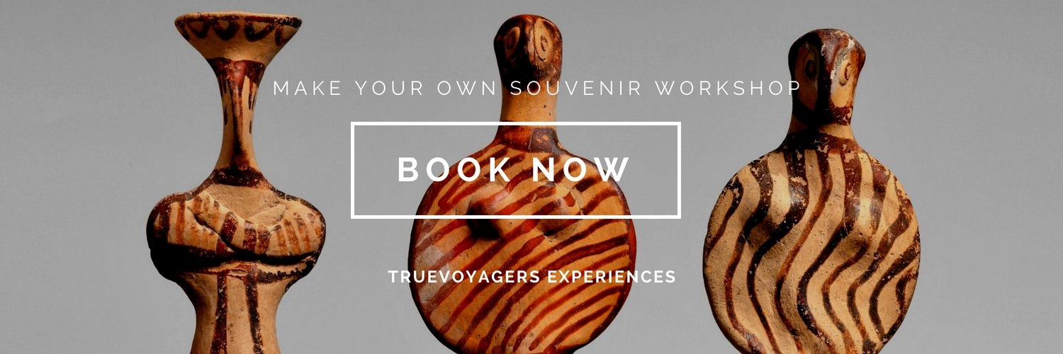 Join our unique  Make your Own Souvenir workshop  and immerse yourself into Greek culture, while creating your own prehistoric sculptures.