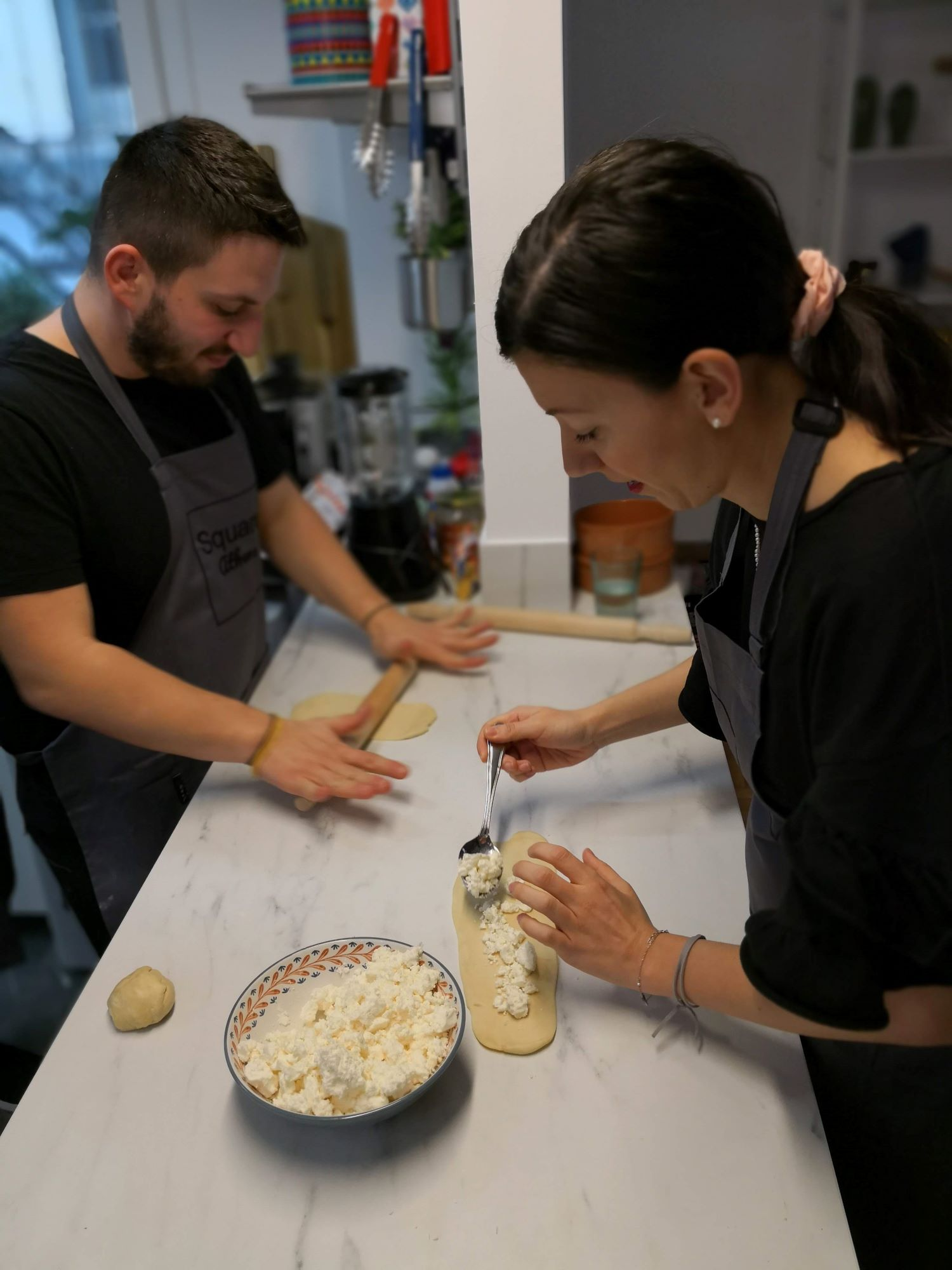Learn how to bake a Greek pita in our  cooking workshop  under the guidance of a professional chef.