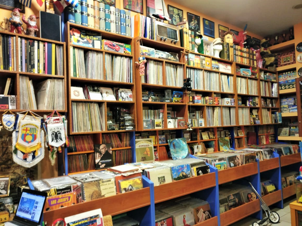 This is another interesting record place, called Mikros Erotikos, selling vinyls and CDs. Photo source: Truevoyagers
