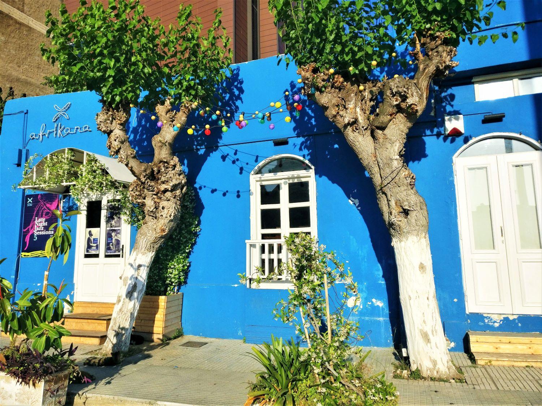 Afrikana  bar looks like a Greek Cycladic island home from outside! Photo source: Truevoyagers