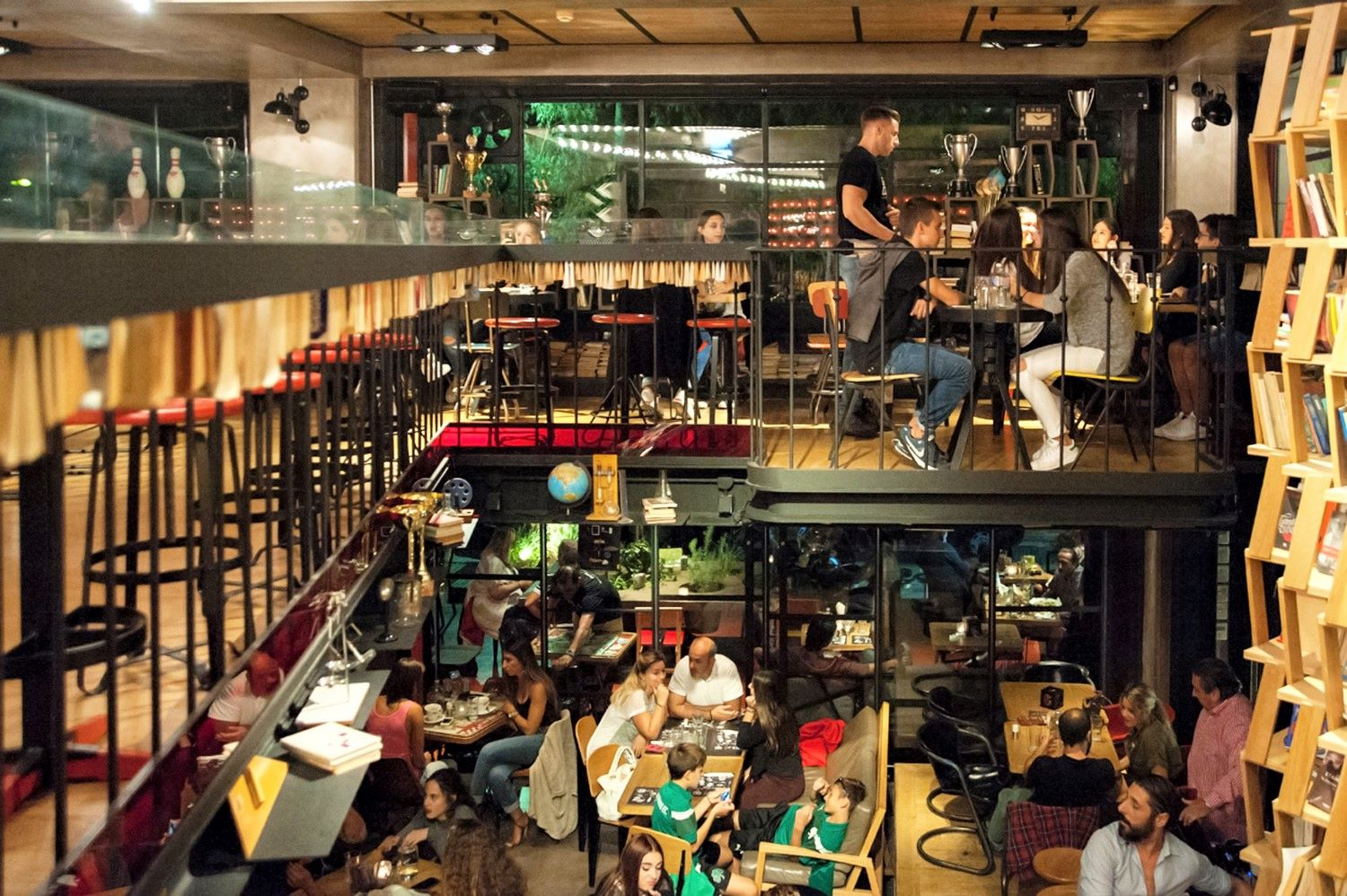Gazi is a vibrant neighborhood of Athens with many cafés and bars for all different tastes. Here,  Gazi College  café and bar. Photo source: Athensvoice.gr