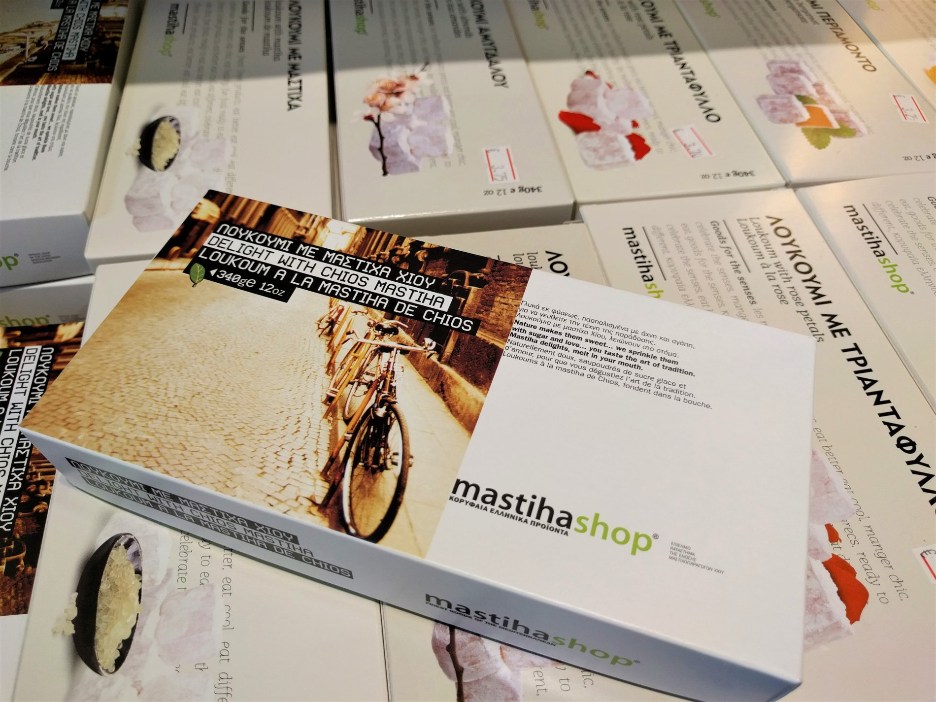 Try  loukoumi  with mastic flavor at  Mastiha shop  in Athens. Photo source: Truevoyagers