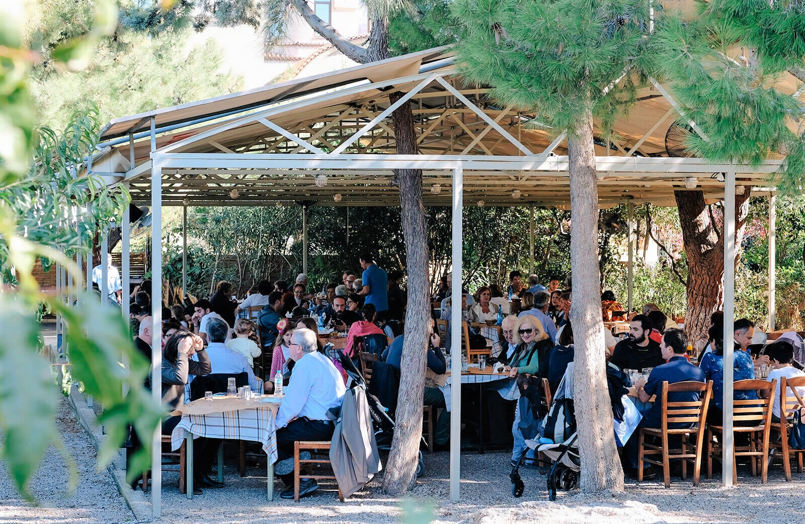 To Steki tou Ilia  gets crowded during the weekends, as Greek families often enjoy their lunch there. Photo source: Georgios Makkas