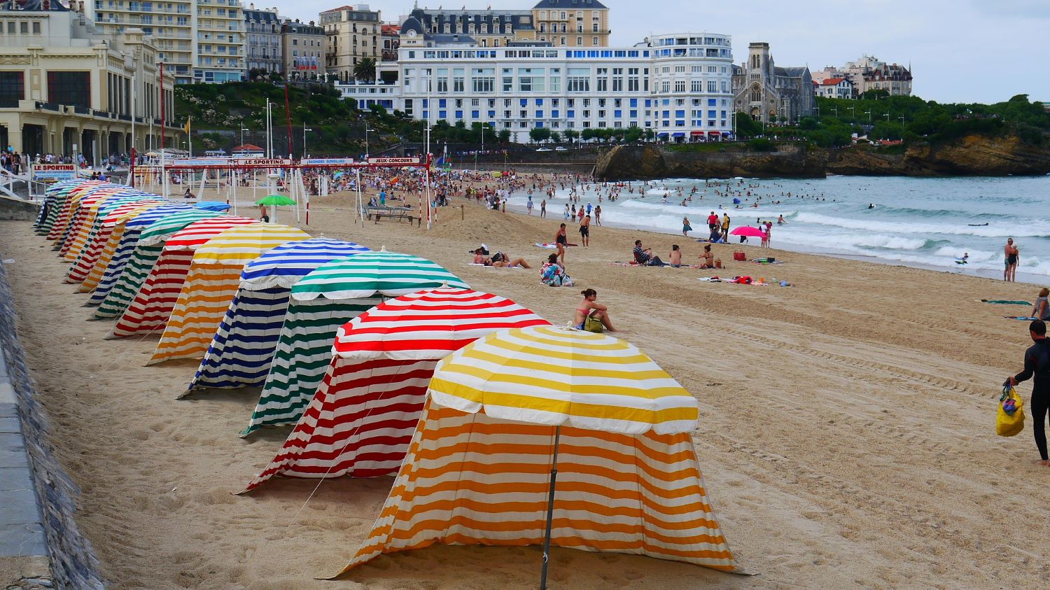 Grande Plage de Biarritz, France.  Source