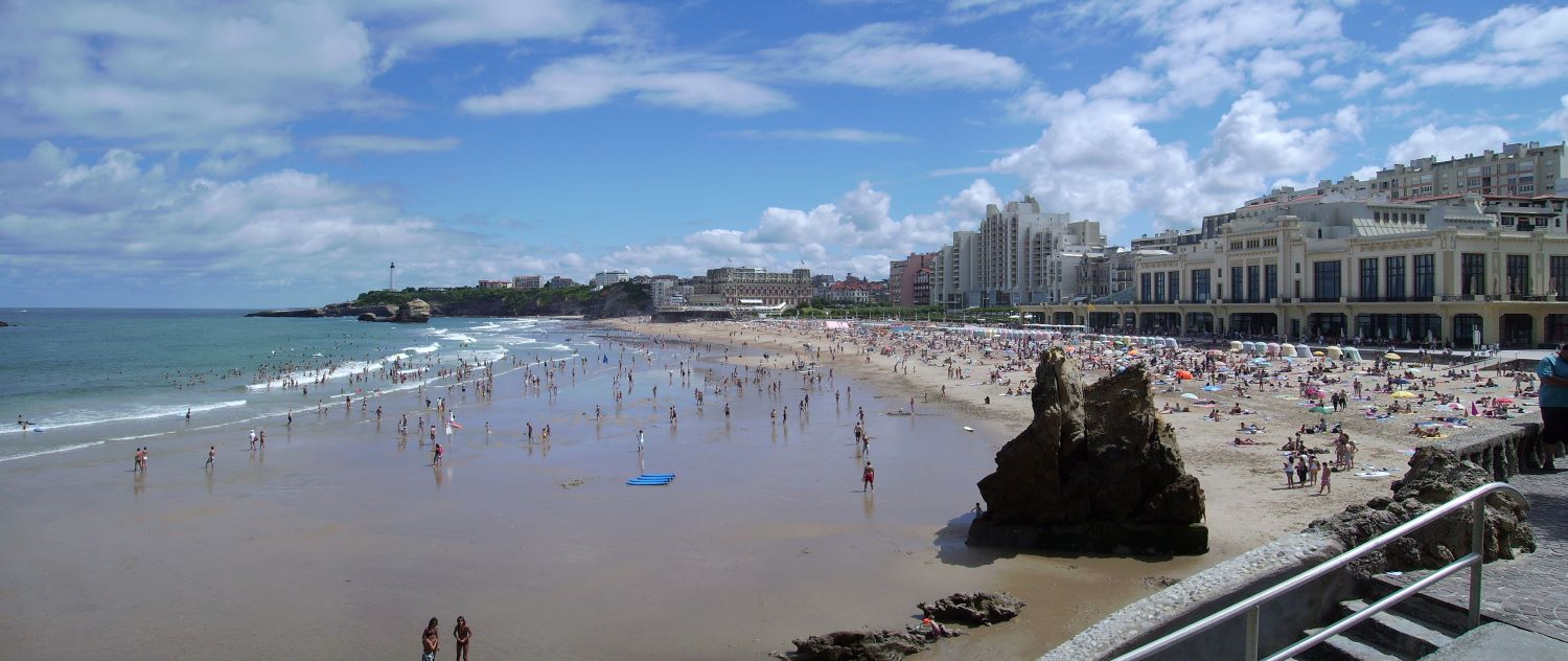Biarritz - Grand Plage, France.  Source
