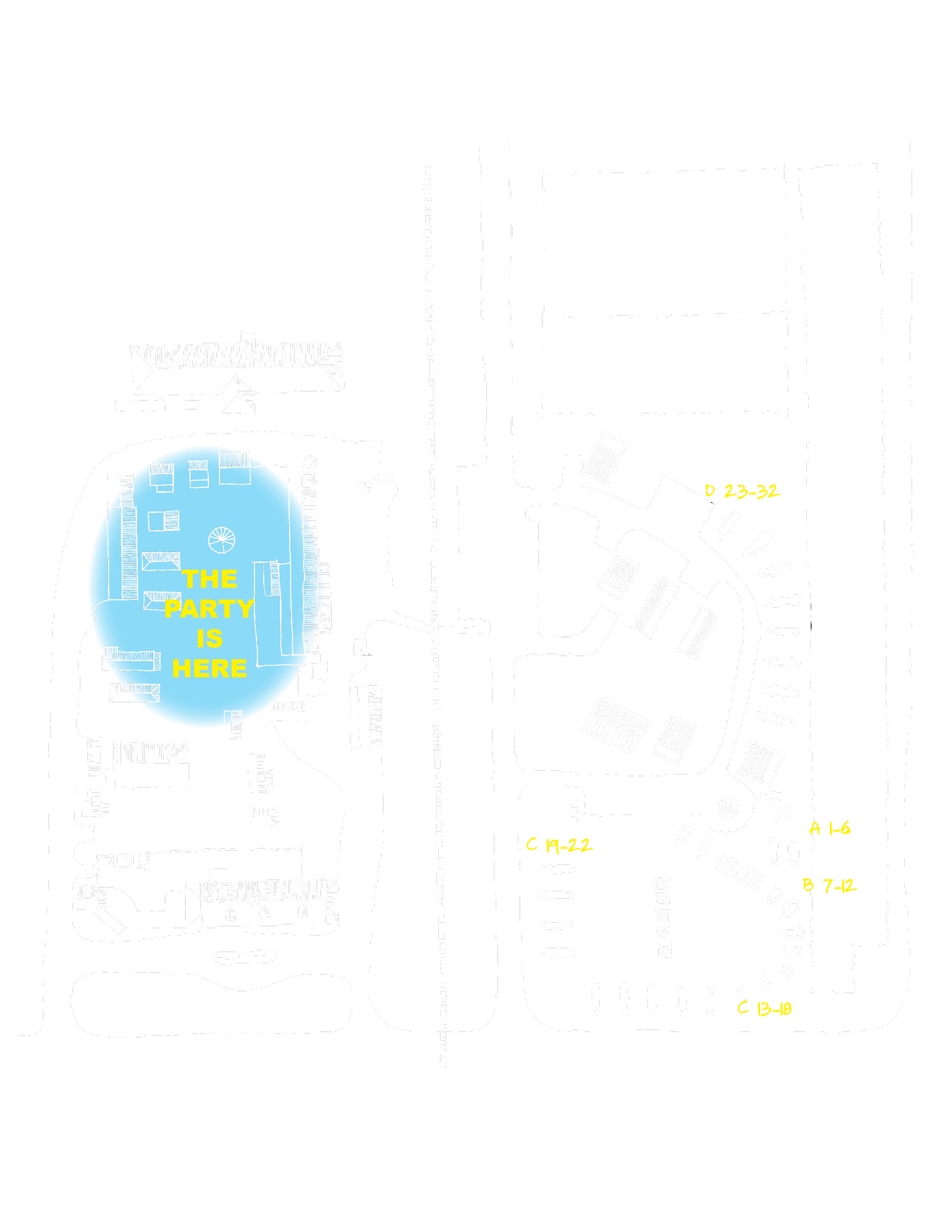 Official Burdine Blues and Greens Event Map of the Shackdale and The Shack Up Inn compound.