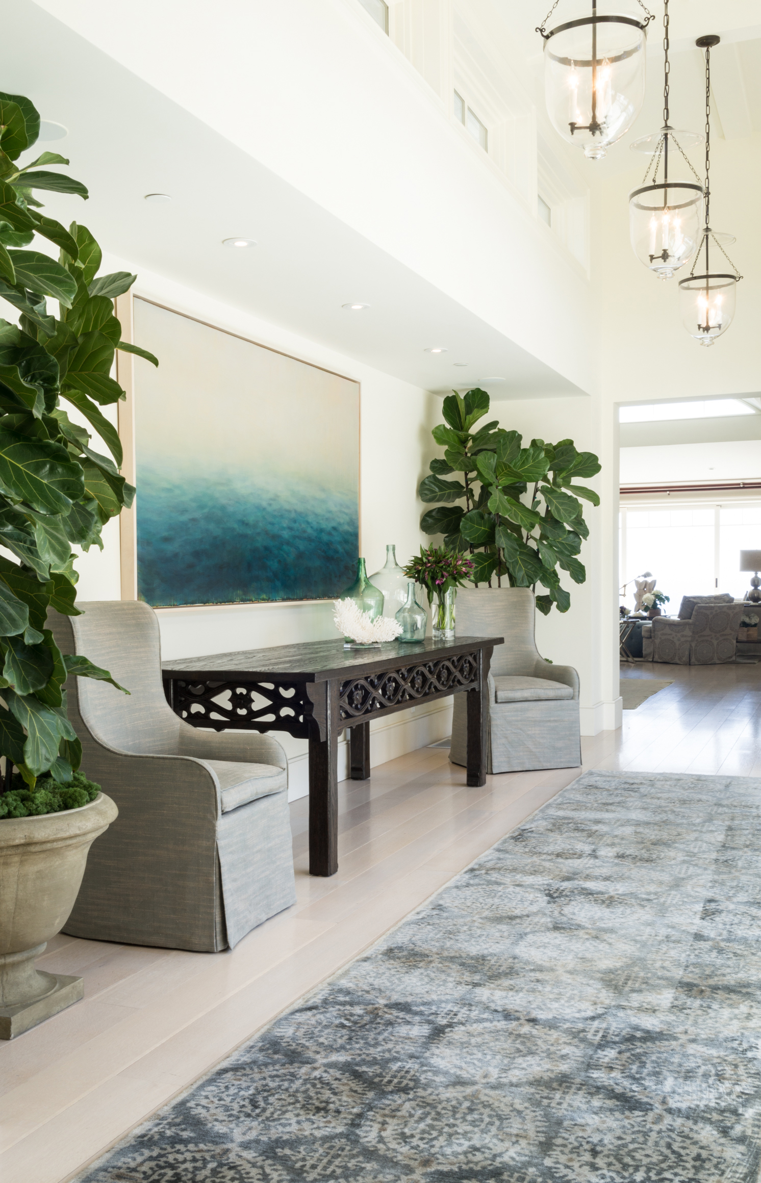 Our design firm, located in the heart of beautiful Laguna Beach, specializes in high-end residential interior design. - From quick fixes to uplift and update a room, to historical remodels, we work with each client individually, creating homes that are layered with unique pieces and custom furniture to incorporate elegance, ease & comfort for each client.