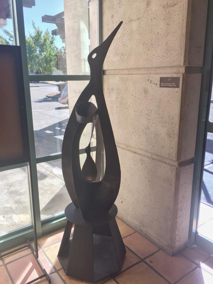 Us.  Alice Otsuji Hager, 1996. Bronze. Benicia Public Library.  Photo by David Dodd.