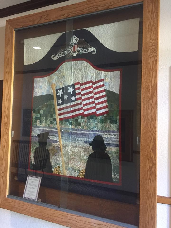 In Remembrance of September 11, 2001.  Carquinez Strait Stitchers. City Hall.  Photo by David Dodd.