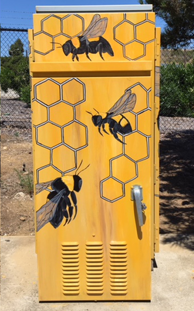 Bumble Bees. Cody Fisinger,2018. Rose and East 2nd Street. Photo by Terry Scott.