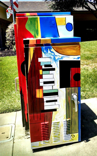 Music.  Bill Gian,2018. Southampton Rd. and Chelsea Hills Dr.  Photo by Terry Scott.