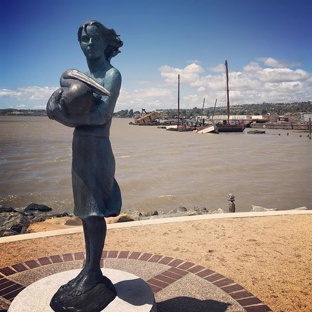 Neptune's Daughter. The latest public art piece in Benicia. Located behind the Tannery Building.