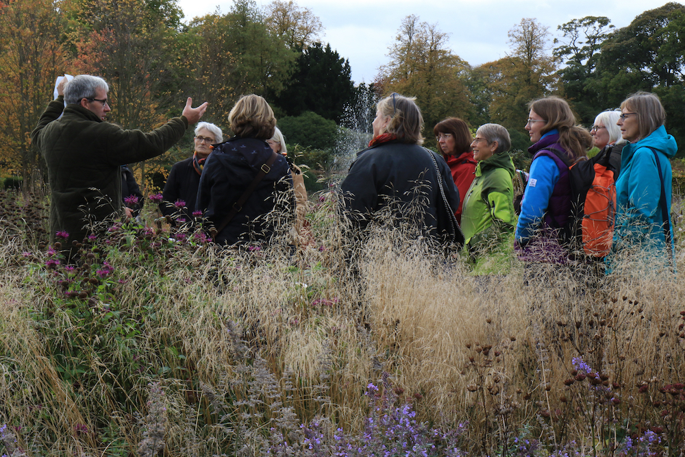 - Paul Smith, Head Gardener at Scampston Hall in Yorkshire expounds on the Piet Oudolf design, October 2017.
