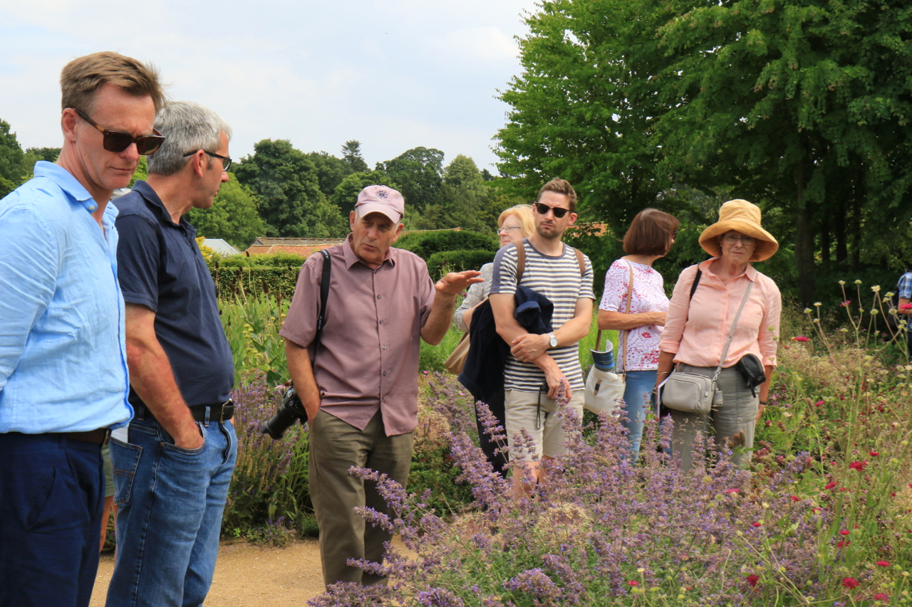 Grass expert Neil Lucas - at Scampston Hall in Yorkshire 2018