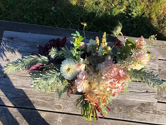 Many views of Becky's beautiful mauve and burgundy bouquet. #fallpalette #unfurledvermont #mutedcolors #fallwedding #weddingflowers #handmadebouquet #weddingbouquet