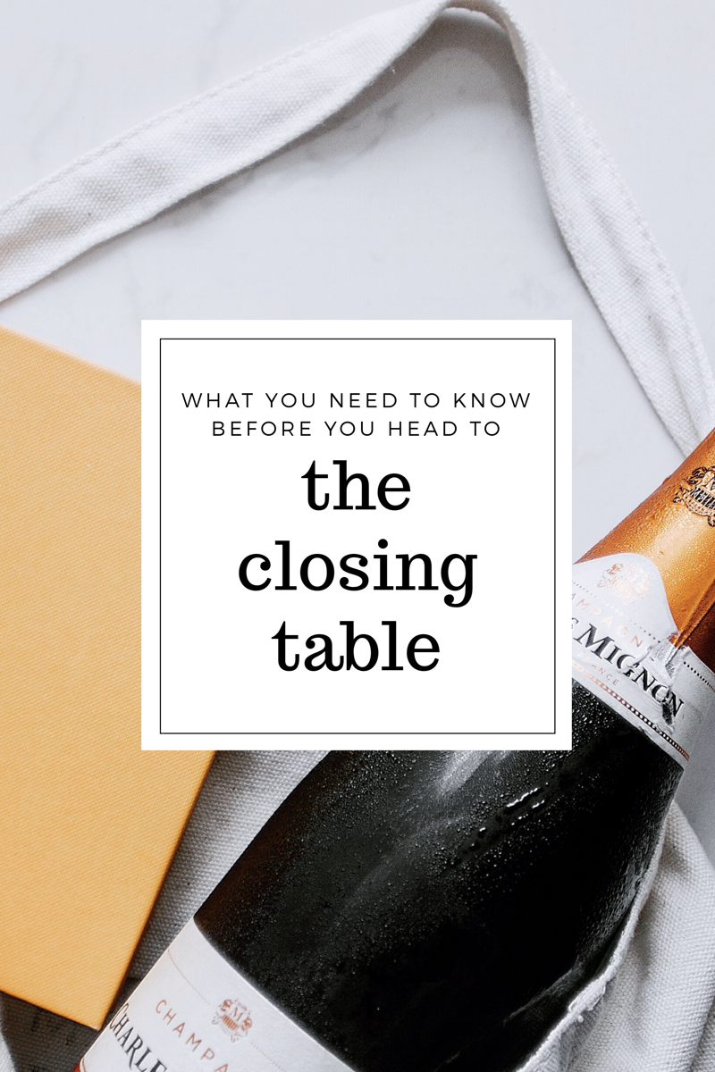 What You Have to Do Before You Get to the Closing Table