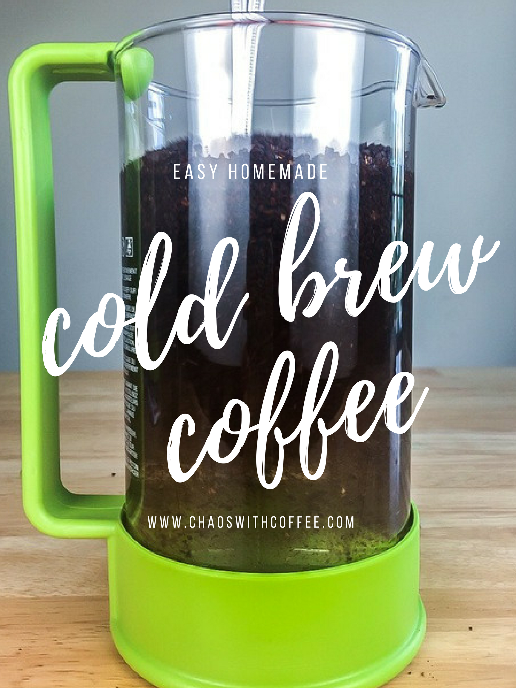 Cold Brew Coffee Recipe via Chaos With Coffee