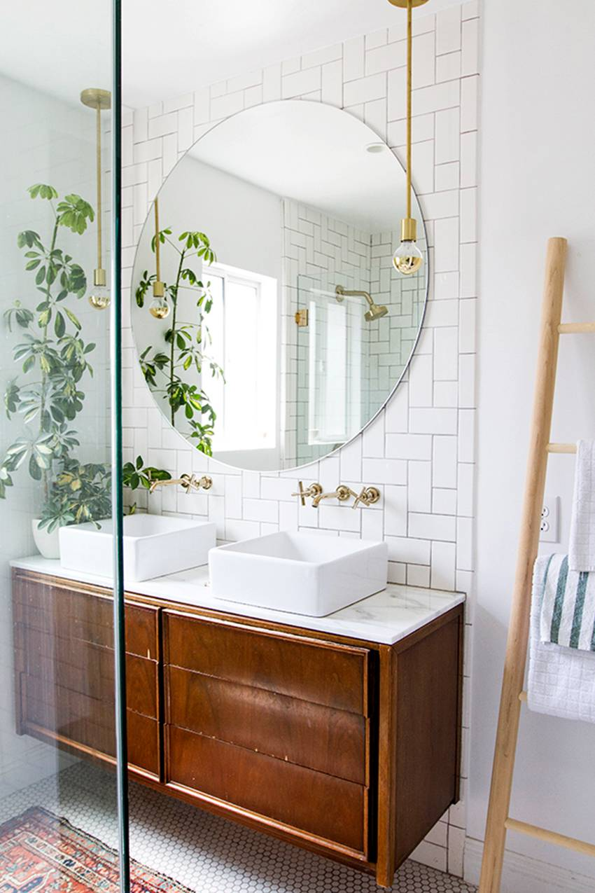 12 Stunning Tile Bathroom Renovations via Chaos With Coffee